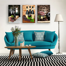 Canvas Art Oil Painting Wine and Fruits Wall Picture Home Decor 3PCS No Frame