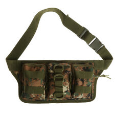 Tactical Molle Pouch Belt Waist Fanny Pack Camping Cycling Hiking Military Bag