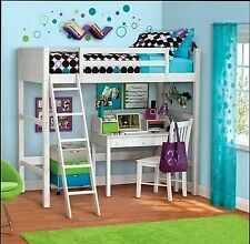 Cute Twin Bed Daybed Kids Bunk Loft Wood Frame Panel Headboard Bedroom Furniture