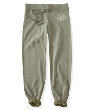 aeropostale womens 87 logo classic cinch sweatpants