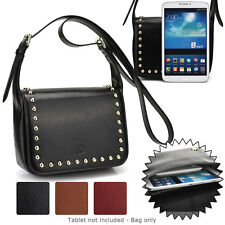 7 inch Tablet Womens Studded Faux Leather Shoulder Bag Case Cover BGSTU-7