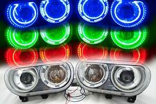 Dodge Challenger 2008-2014 HID ORACLE Halos LED Headlights LH RH ColorSHIFT RGB