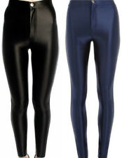 NEW LADIES FASHION AMERICAN APPAREL HIGHWAISTED STRETCHY SHINY DISCO PANTS