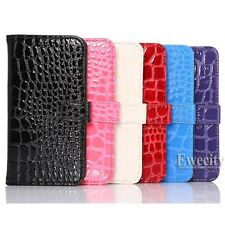 Flip Wallet Crocodile PU Leather Stand Case Cover For Samsung Galaxy S6