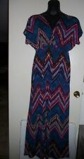 Pretty Young Thing Sexy Aztec Cleavage Long Maxi Dress Women's 1X, 2X NWOT