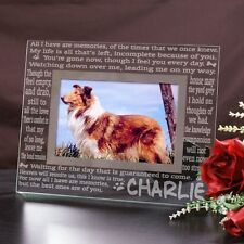 Personalized Dog Memorial Picture Frame Engraved Memories Pet Glass Photo Frame