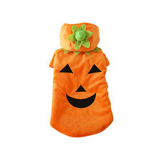Dog PUMPKIN POOCH Canine Plush Halloween Costume XS-XL Apparel Cosplay Clothing