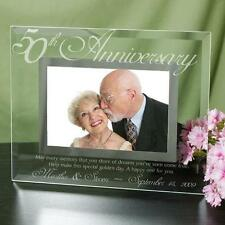 Personalized 50th Wedding Anniversary Picture Frame Engraved Anniversary Gift