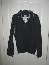 Augusta Sportswear Mens Zip Front Windbreaker Jacket Navy Blue Size XL NWT