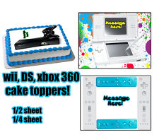 WII XBOX DS toppers for cake Edible image FROSTING SHEET party topper birthday