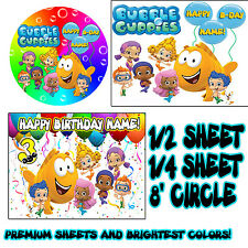 BUBBLE GUPPIES Sugar Edible Birthday CAKE topper image FROSTING SHEET guppys