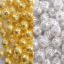 Gold & Silver Plated Metal Filigree Spacer Beads & Choose 4MM 6MM 8MM 10MM 12MM