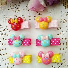 10PCS/lot cute resin mickey Kids Girls Baby Hair Clips hairpins Hair Accessories
