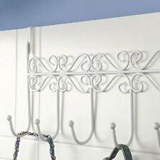 over the Door Bathroom 5 Hooks Hanger Rack Holder Coat Towel Bag 3 Color