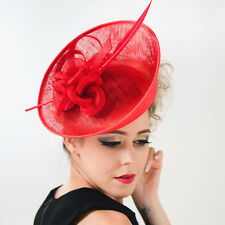 Fairlady Vintage Large Feather Fascinator Clip Hat Headband Kentucky Derby Accs