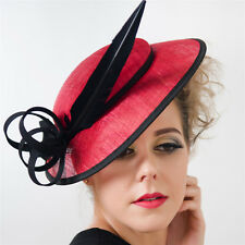 New Lady Kentucky Derby Feather Fascinator Hat Cocktail Wedding Party Headpiece