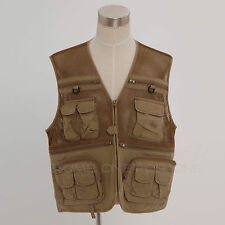 Mars Envoy Outdoor Hiking Fishing Photography Director Mesh Yellow Brown Vest