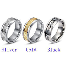 Titanium Steel Ring Band Gift Engagement Wedding Plating Couple Lover Promise