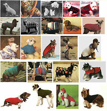 Vintage Dog Pet Coat Sweater Jacket Crochet Pet Pattern Instructions ☆☆☆☆☆