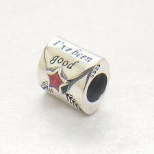 Authentic Genuine S925 Silver Red Enamel Letter to Santa Bead charm