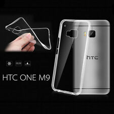 Slim Supple Transparent TPU Rubber Gel Skin Protector Case Cover for HTC ONE M9