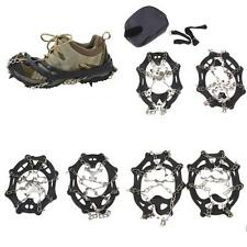 8-19 Teeth Ice Snow Grippers Walking Boot Shoes Spike Cleats Grip Chain Crampons