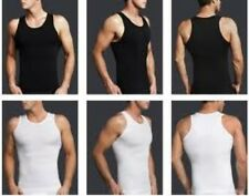 3 pack Mens Slimming Shirt Compression Vest Mens Slimming Body Shaper undershirt