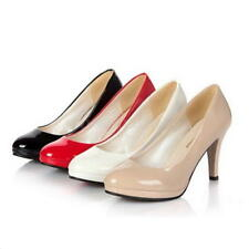 OL Women Round Toe Sexy Stiletto Platform High Heels Pump PU Shoes Wedding Shoes
