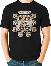 Route 66 T Shirts State Signs Mother Road Trip Mens Big and Tall - Free Shipping