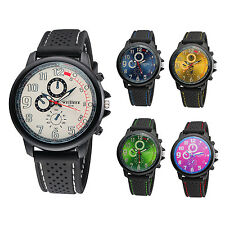 weijieer Military Aviator Army Style Silicone Men Outdoor Watch ZH