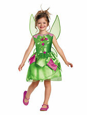 Tinkerbell Costume for Toddler and Girls w/Wings New by Disguise 59100