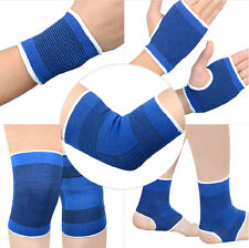 Elastic Blue Support Brace Knee Palm Wrist Calf Thigh Ankle Elbow Sports Bandage