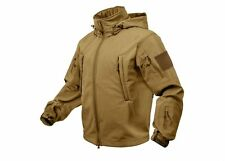 9867 Rothco Coyote Brown Special Ops Soft Shell Waterproof Tactical Jacket S- 5X