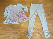 Naartjie Girls Top Tunic Size XL (US 7Y) and Leggings Size XL (US 7Y)