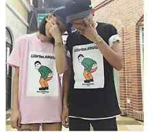 Korea INS exclusive custom spoof fun printed T-shirt TEE cartoon U9405
