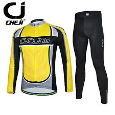 2016 New Men's Long Sleeve Bike Jersey Pants Cycling Clothing Set Winter Autumn