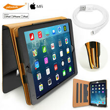 Sydney Leather Smart Wake Stand Case For iPad 2 3 4 Lightning Cable Clear Film