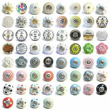 Colourful Vintage Ceramic Knobs Drawer Pulls Cupboard Door Knobs Porcelain China