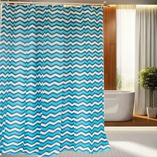 71'' Simple American Polyester Waterproof Bathroom Fabric Shower Curtain Hooks