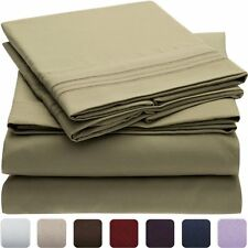 Luxury Bed Linens Twin Size Mellanni Sheet Sets Hypoallergenic 4 Pc Many Colors