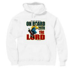 Pullover Hooded hoodie christian sweatshirt Outfitters skating on board Lord