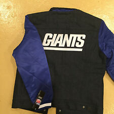 New York Giants Levi's Denim Varsity Jean Button-Up Jacket Royal Blue NFL NYC NY