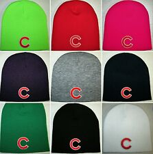Chicago Cubs Beanie ~SKULL CAP ~HAT ~CLASSIC MLB PATCH/LOGO ~11 Cool Colors ~NEW