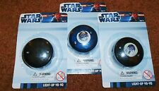 STAR WARS LIGHT UP YO-YOS, THREE CHOICES (sold individually), NEW IN PACKAGE