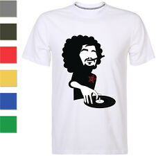 Funny Cool DJ Mens T-shirt Short Sleeve Cotton Print Graphic Tee Tops 8 Colors