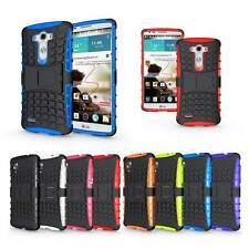 Heavy Duty Hybrid Rubber 2 Layer Impact Stand Hard Kickstand Case Cover For LG