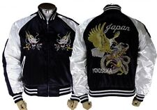 JAPANESE SUKAJAN JACKET hawk × dragon EMBROIDERY Jacquard fabric  made in JAPAN
