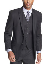 SEAN JOHN Sportcoat Black Tonal Striped 2-Button Suit-Separates Blazer $275