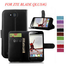 WALLET LEATHER CASE FOR ZTE BLADE Q LUX 4G COVER BAG MOBILE PHONE MAGNETIC