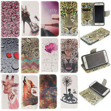 FLIP MAGNETIC PAINTED LEATHER STAND WALLET CARD CASE COVER FOR IPHONE 6 & 6S